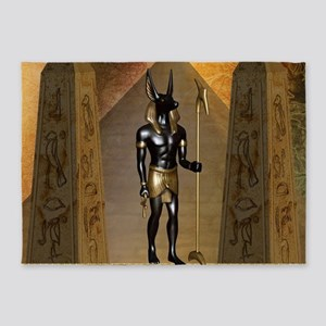 Anubis the egyptian god 5'x7'Area Rug